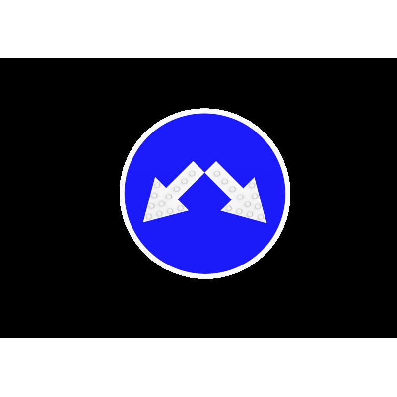 Знак объезд препятствия слева картинка